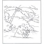 Ausmalbilder für Kinder - Lars ißt