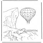 Ausmalbilder für Kinder - Lars mit Ballon