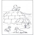Ausmalbilder für Kinder - Lars mit Freunde