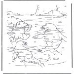 Ausmalbilder für Kinder - Lars und Walrossen