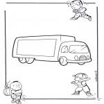 Allerhand Ausmalbilder - Lastkraft wagen 1