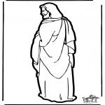 Malvorlagen Basteln - Laubsäge arbeiten Jesus