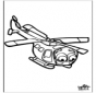 Laubsägearbeit Hubschrauber