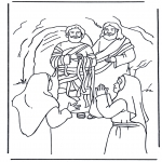 Bibel Ausmalbilder - Lazarus