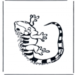 Ausmalbilder Tiere - Leguan