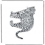 Ausmalbilder Tiere - Leopard 2