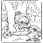 Ausmalbilder für Kinder - Lesen 1