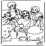 Bibel Ausmalbilder - Letztes Abendmahl