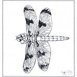 Ausmalbilder Tiere - Libelle 2