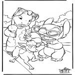 Ausmalbilder Comicfigure - Lilo und Stitch 4