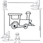 Allerhand Ausmalbilder - Lokomotive 1