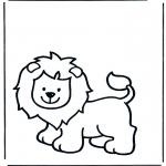Ausmalbilder Tiere - Löwen 1