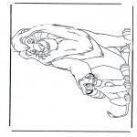 Ausmalbilder Tiere - Löwen 5