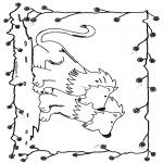Ausmalbilder Tiere - Löwen 6
