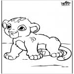 Ausmalbilder Tiere - Löwenbaby