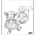 Ausmalbilder für Kinder - Mädchen 2
