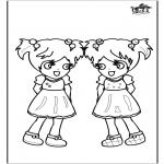 Ausmalbilder für Kinder - Mädchen 3