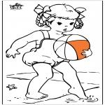 Allerhand Ausmalbilder - Mädchen am Meer