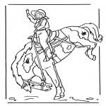 Ausmalbilder Tiere - Mädchen auf Pferd 2