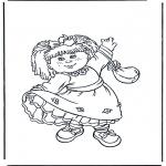 Ausmalbilder für Kinder - Mädchen in Rock