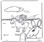 Mädchen mit Esel