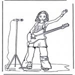 Allerhand Ausmalbilder - Mädchen mit Gitarre