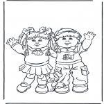 Ausmalbilder für Kinder - Mädchen und Junge