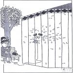 Malvorlagen Basteln - Malen nach zahlen 45