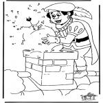 Basteln Stechkarten - Malen nach zahlen Sankt Nikolaus