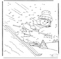 Malen nach zahlen Ski