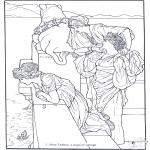 Allerhand Ausmalbilder - Maler Alma-Tadema