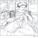 Allerhand Ausmalbilder - Maler Cassatt