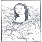 Allerhand Ausmalbilder - Maler da Vinci