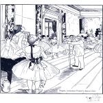 Allerhand Ausmalbilder - Maler E. Degas