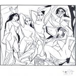 Allerhand Ausmalbilder - Maler Picasso