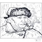 Allerhand Ausmalbilder - Maler Van Gogh 2