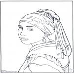 Allerhand Ausmalbilder - Maler Vermeer