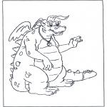 Ausmalbilder Tiere - Malvolagen drache