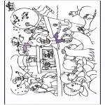 Basteln Stechkarten - Malvorlage Sankt Nikolaus 1