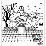 Basteln Stechkarten - Malvorlage Sankt Nikolaus 6