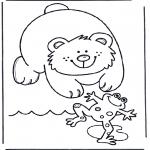 Ausmalbilder Tiere - Malvorlagen bär