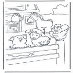 Ausmalbilder Tiere - Malvorlagen bauernhof