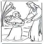 Bibel Ausmalbilder - Malvorlagen Bibel Moses