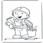 Ausmalbilder für Kinder - Malvorlagen bob der baumeister