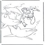 Ausmalbilder Tiere - Malvorlagen delfine
