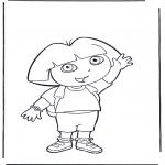 Ausmalbilder für Kinder - Malvorlagen Dora