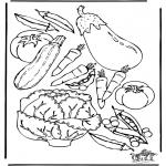 Allerhand Ausmalbilder - Malvorlagen Gemüse