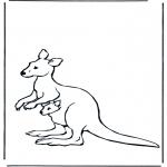 Ausmalbilder Tiere - Malvorlagen Känguru