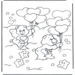 Ausmalbilder für Kinder - Malvorlagen Kuschelbarchen