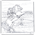 Ausmalbilder Tiere - Malvorlagen pferd